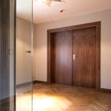 Drzwi podwójne, EI30, orzech